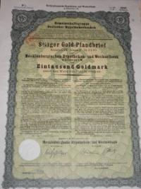 Goldpfandbrief 1.000 márka
