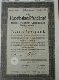 Hypotheken Pfandbrief 1000 Reichsmark akció