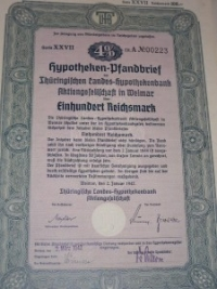 Hyphoteken Pfandbrief 100 márka
