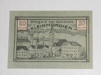 Osztrák Notgeld Kleinmünchen 20 Heller