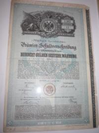 Osztrák értékpapír: Premium Schuldverschreibung 1889