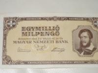 Magyar papírpénz: Egymillió Milpengő