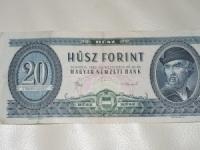 Magyar papírpénz: 20 forint (1980)